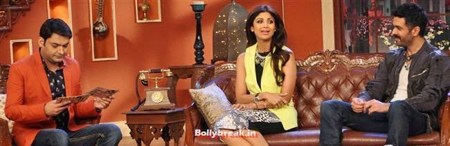 KApil Sharma. Shilpa Shetty and Harman Baweja, Shilpa Shetty Promotes Dishkiyaaoon Promotion on Comedy Night with Kapil