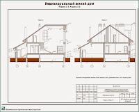 Проект жилого дома в пригороде г. Иваново - д. Афанасово Ивановского р-на. Разрезы