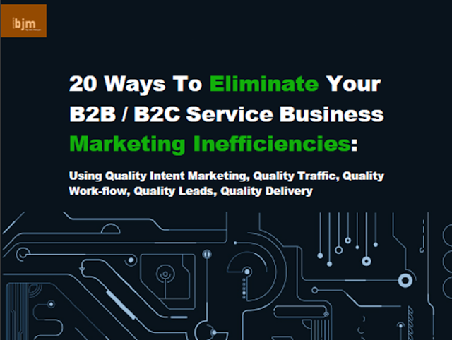 Eliminate Service Business Marketing Inefficiencies