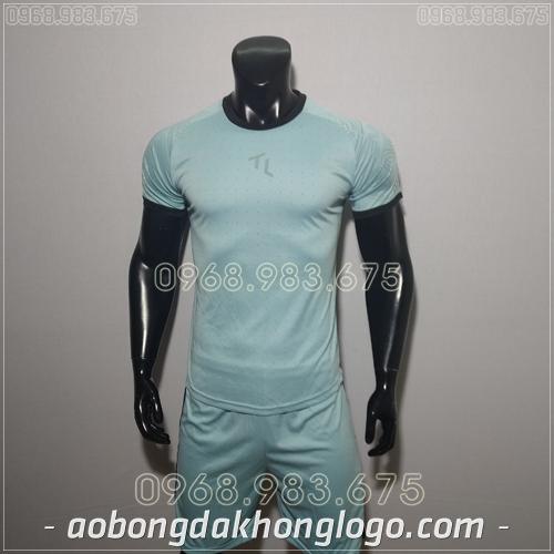 Áo bóng đá không logo TL Ya  màu xanh lơ