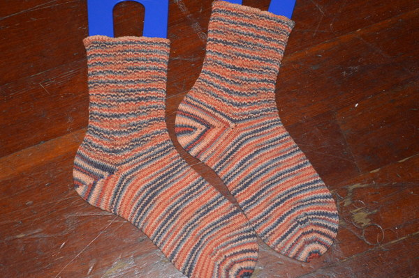 Hand Knit Socks - Elann Esprit Incan Clay