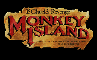 Monkey Island 2 title screen logo