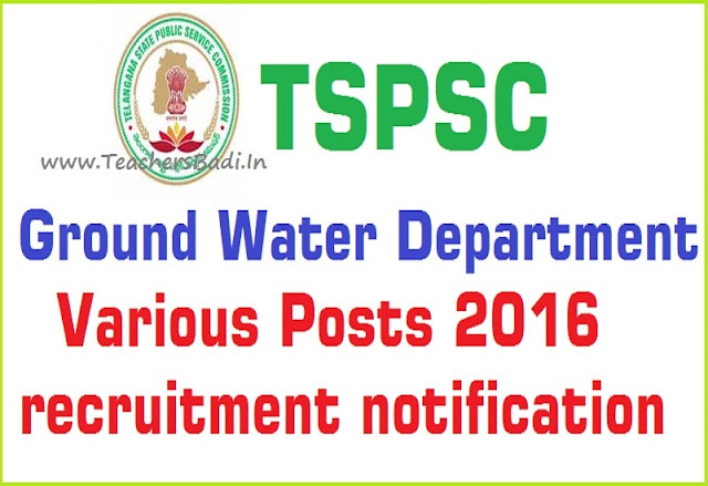 TSPSC,Ground Water department Posts,recruitment