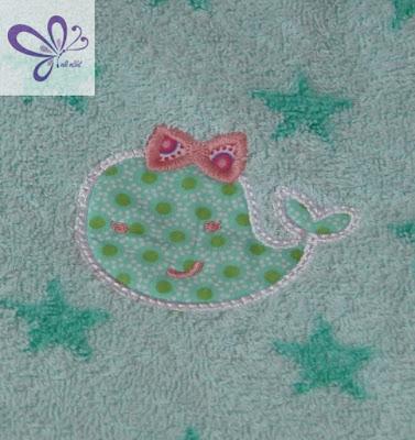 Stickdatei, Embroidery, Girly Whale von Planet Applique