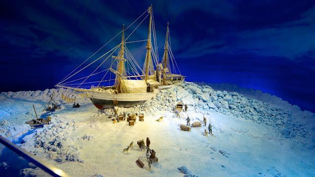 Exposición sobre las expediciones polares con el barco Fram (Museo del Fram en Oslo)