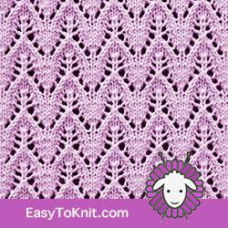 #EyeletLace Dainty Chevron. FREE Knitting Pattern!  #easytoknit #knitting