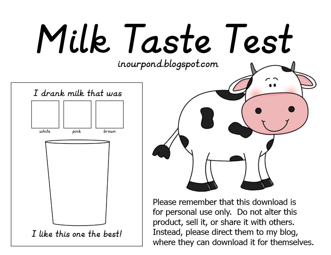 Science Notebook Printable Milk Tasting