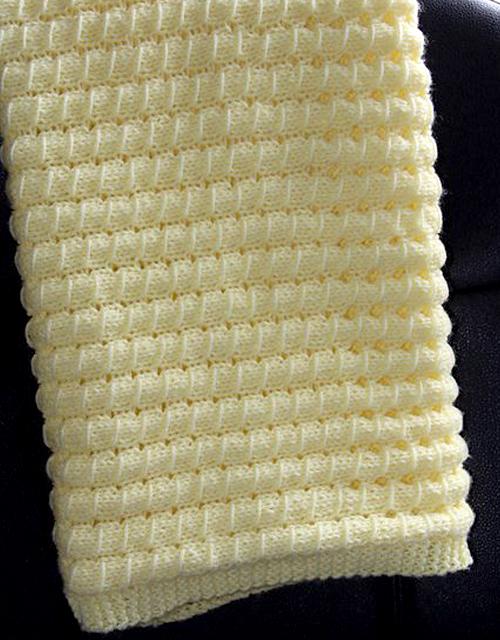 Waffle Blanket - Free Pattern