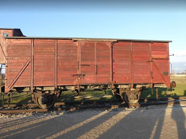 carro ferroviario usato per trasportare i prigionieri ad Auschwitz