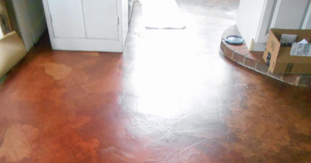 Living Designs A Paper Bag Floor Over Asbestos Linoleum