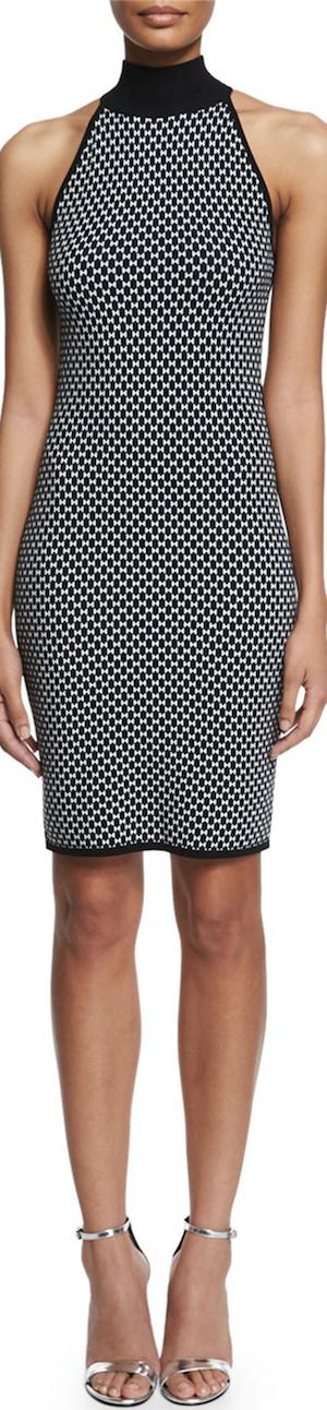 Michael Kors Collection Sleeveless Mock-Neck Sheath Dress