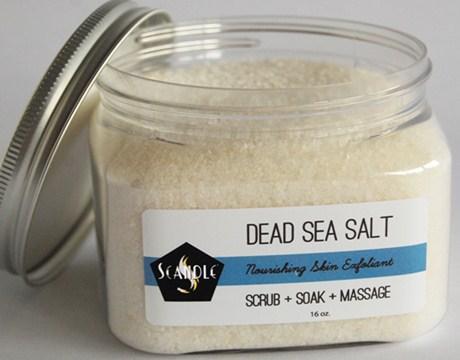 garam laut mati untuk mengobati jerawat
