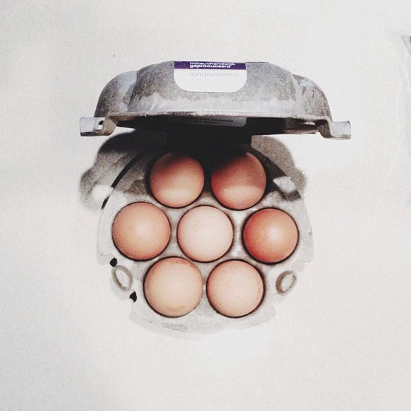 brown eggs in a crate