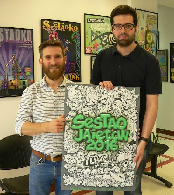 El barakaldés David Iglesias gana el concurso de carteles de las fiestas de Sestao