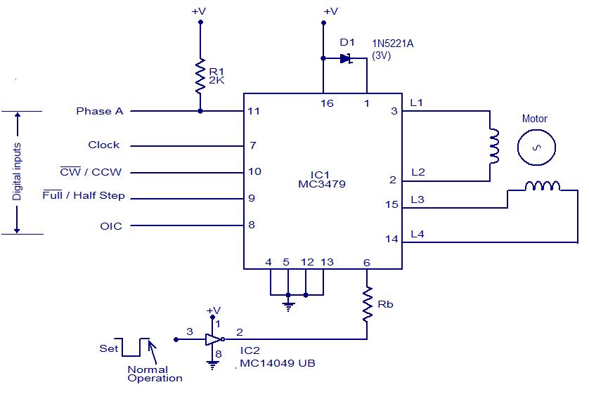 schematic wiring diagram mc3479 stepper motor driver. Black Bedroom Furniture Sets. Home Design Ideas