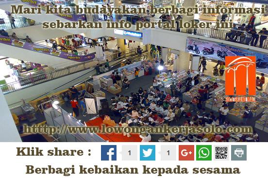 Lowongan kerja di Solo Grand Mall terbaru 2016