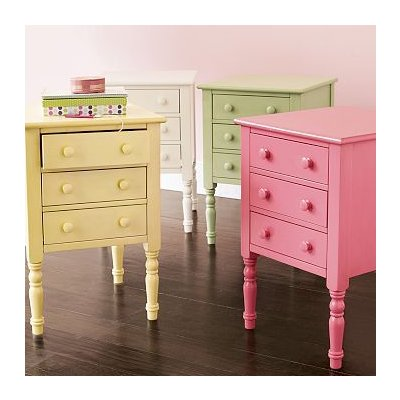 Practical Living Pottery Barn Teen Colourful Nightstands
