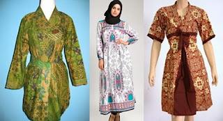 10 Model Baju Batik Atasan Untuk Wanita Gemuk 2020