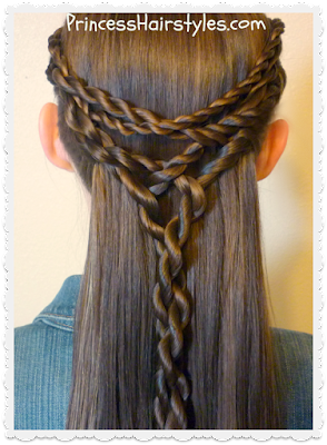 Tangled twists tie-back hairstyle tutorial.