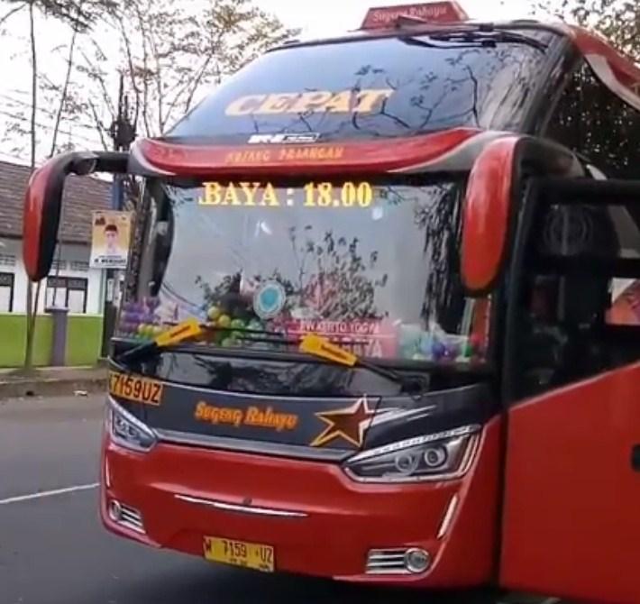 Harga Tiket Bus Sugeng Rahayu Cepat Golden Star Surabaya
