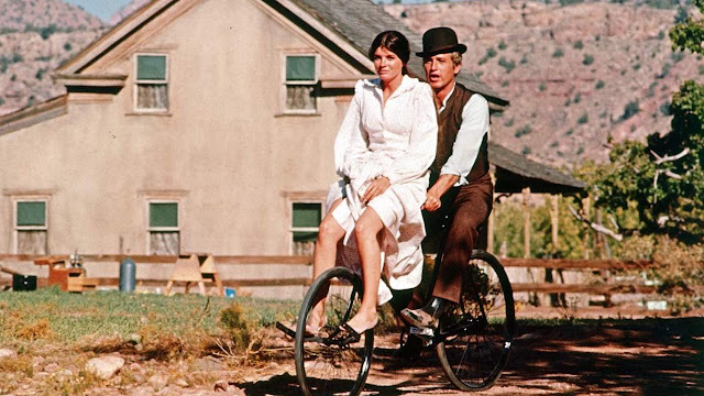 paul newman na bicicleta, butch cassidy and the sundance kid