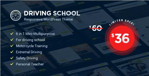 Driving School v1.2.0 – WordPress Theme