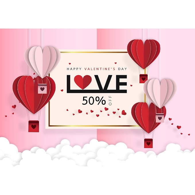 Valentines day sale background with Origami free vector