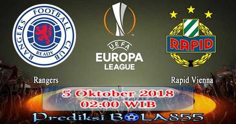 Prediksi Bola855 Rangers vs Rapid Vienna 5 Oktober 2018