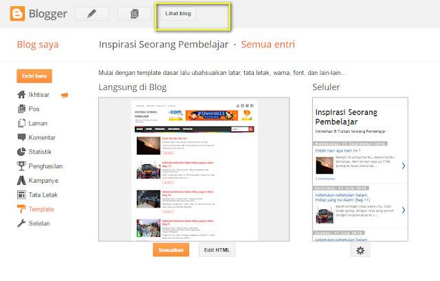melihat tampilan preview blogspot