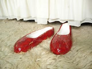 ceramiczne buty baleriny czerwone