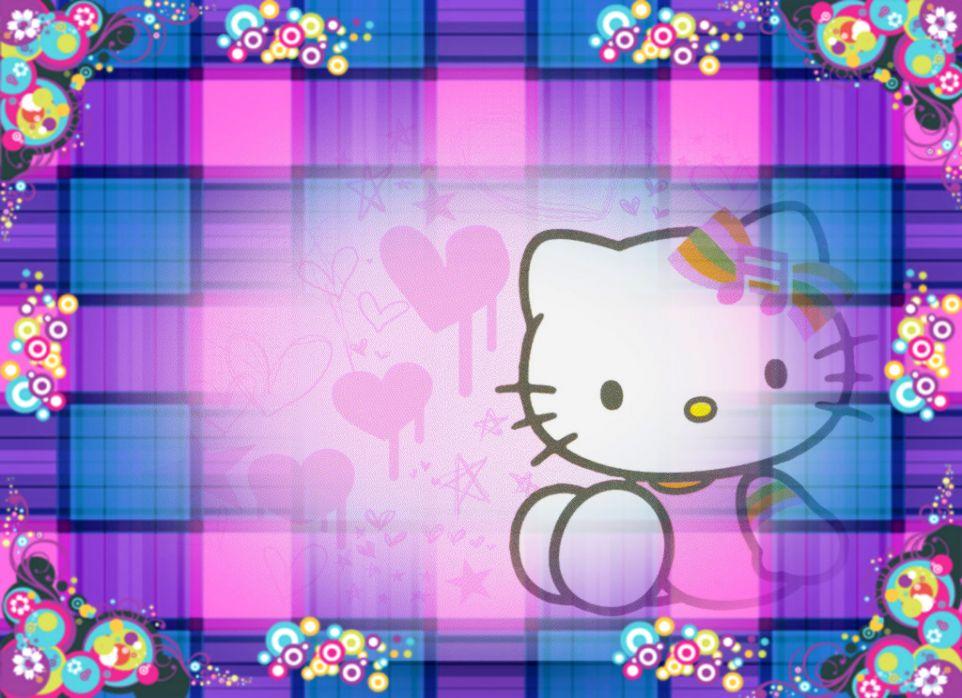 Cute Cat Purple Background Wallpaper Wallpapers Photos