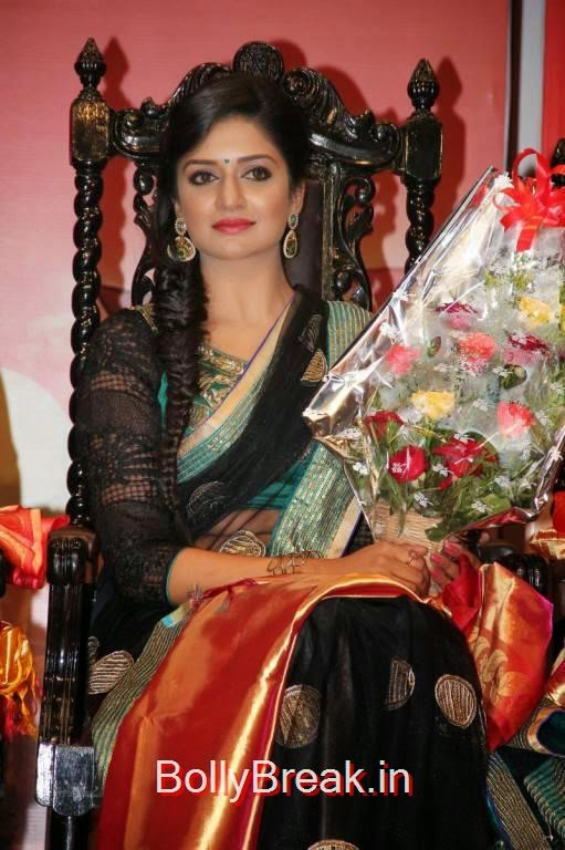 Vimala Raman Unseen Stills, Vimala Raman Hot HD Pics in Black Saree from Young India Awards