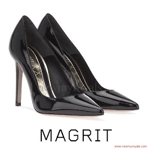 Queen Letizia wore MAGRIT black leather Pumps