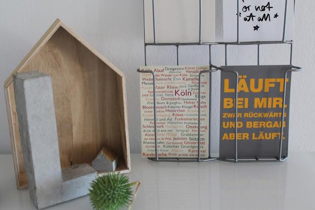 Beton Buchstaben DIY