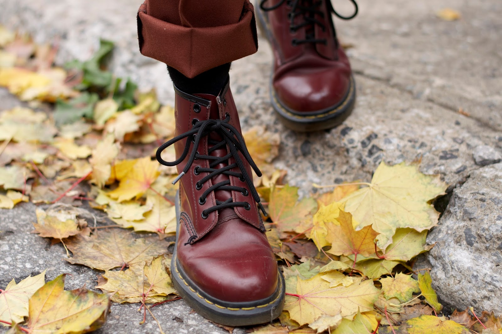 Cherry red Dr Martens boots