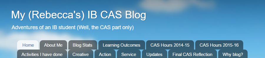 My (Rebecca's) IB CAS Blog