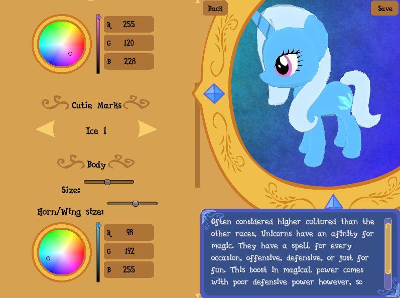 equestria daily mlp stuff legend of equestria character creator