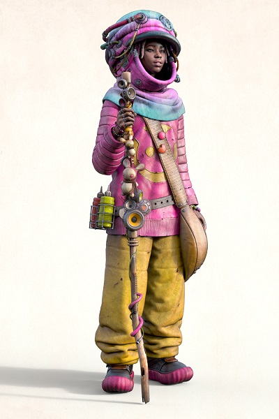 """QEM"" - OOMOU characters by Andy Lee | imagenes chidas de arte digital, personajes de novela grafica, comic y kawaii | fantasia futurista"