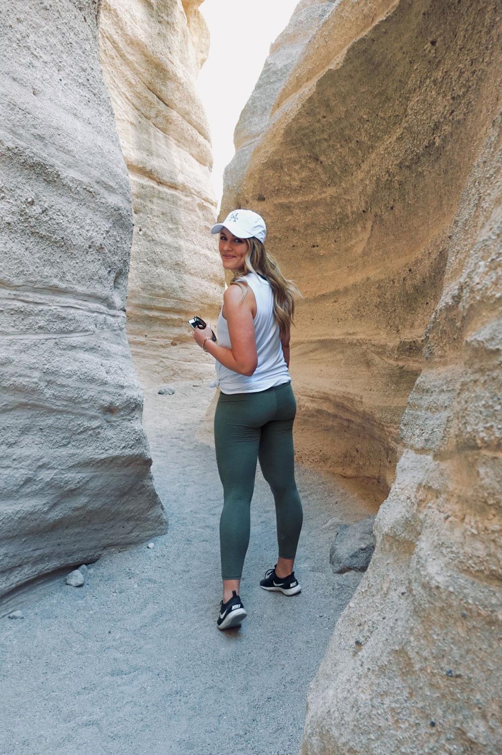 hiking at tent rocks