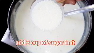 Adding sugar in the milk