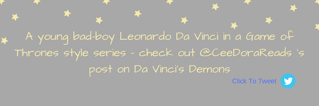A young bad-boy Leonardo Da Vinci in a Game of Thrones style series - check out @CeeDoraReads 's post on Da Vinci's Demons (Click to Tweet box)