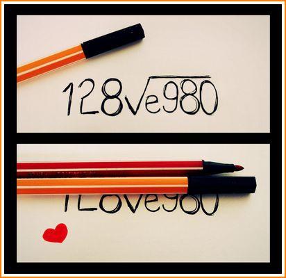 Gambar penyelesaian matematik kepada persamaan cinta.