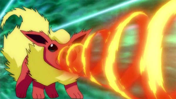 Pyro: trở thành Pokémon Flareon hệ lửa.