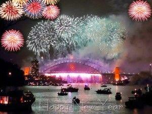 Happy New Year Eve 2016 Fireworks Orlando Florida USA Celebration