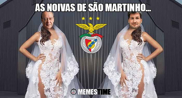 Memes Time… da bola que rola e faz rir - Nova iniciativa de Merchandising do Benfica: Vestidos de Noiva – As noivas de São Martinho...
