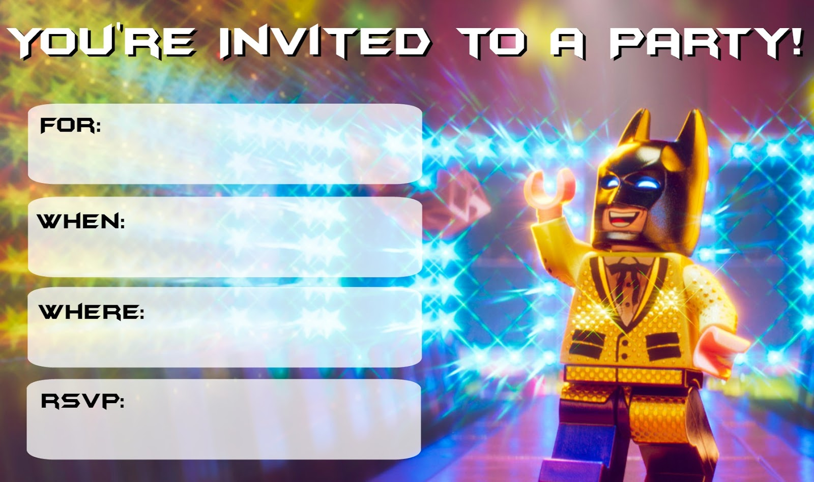 musings of an average mom  lego batman movie party invitations