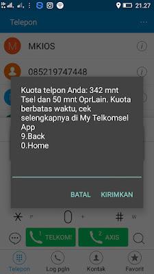 Bukti Paket Nelpon Gratis dari Telkomsel