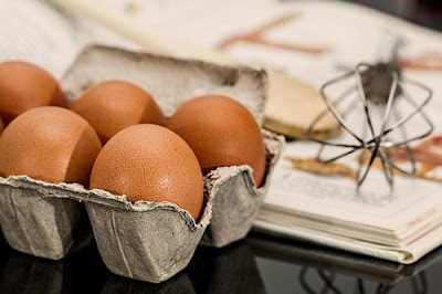 The basic baking ingredients for bakers - eggs