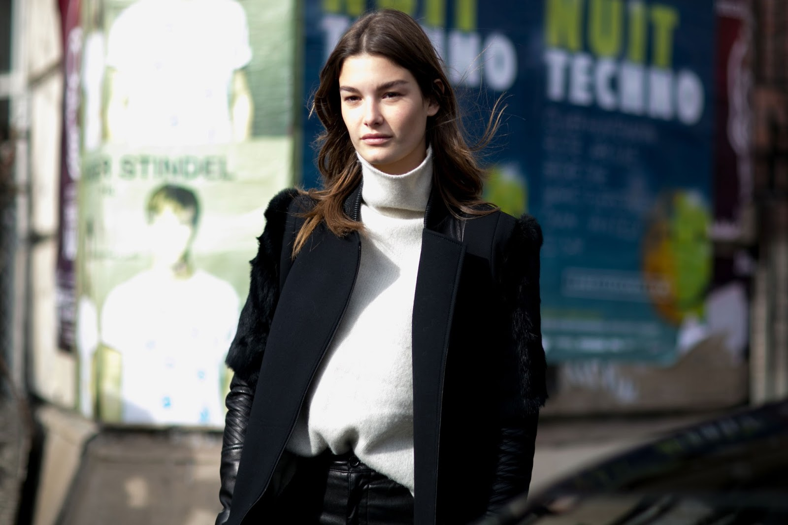 Street Style:Ophelie Guillermand is Sophisticated in Black & White
