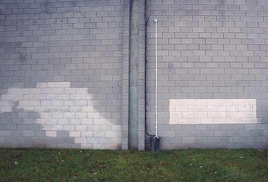 nowhere in particular, contemporary photography, urban photography, urban photo, industrial photography, photo art, photo artist, photographer, Sam Freek, grey wall,